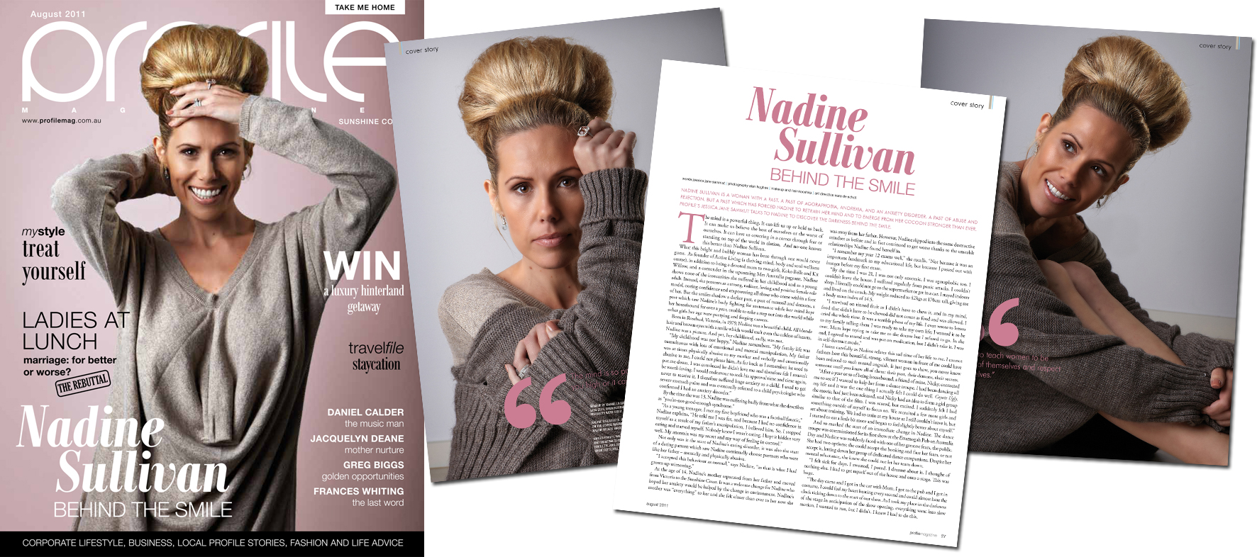 Nadine in Profile Magazine